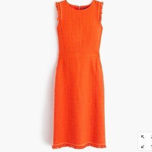 Orange Jcrew sheath dress size 00